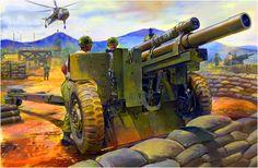 105 mm artillery gun M101 A1 in Vietnam