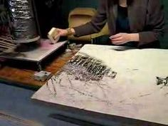 Ann Shier's Encaustic Painting Demonstration - YouTube
