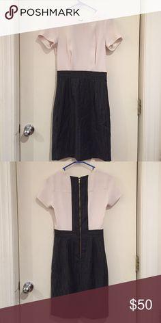 Jcrew pinstripe suiting dress Like new Jcrew wear to work dress. No stains, rips, flaws. J. Crew Dresses