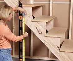 How to Build Under-stair Basement Storage Shelves - Adding Extra ...