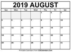 picture about Free August Calendar Printable called 115 Least complicated August 2019 Calendar Printable Templates Totally free