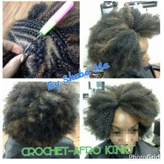 Crochet Hair Afro : Sew ins & extensions on Pinterest Crochet Braids Hair, Full Head Sew ...