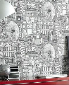 Londinium Wallpaper | 2Modern it'd be fun to color in part of this...