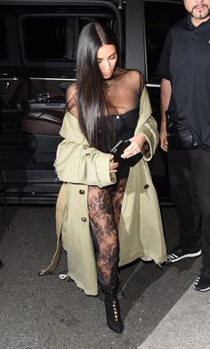 The Kardashians meet up at Kinu for dinner during Paris Fashion Week. Kris Jenner, Kim Kardashian, Kourtney Kardashian, and Kendall Jenner were all seen arriving separately dressed to the nines in trendy apparel. Kim stunned the crowd – by going BOTTOMLESS to the event