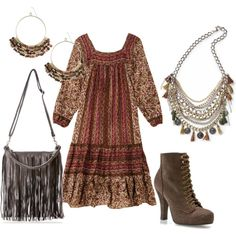 hippie chic jewelry | fashion look from July 2011 featuring Restricted ankle booties ...