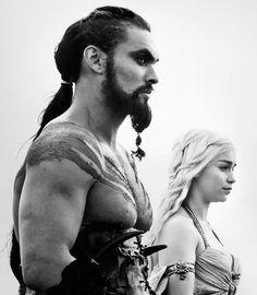 Daenerys Targaryen, mother of Dragons, Khaleesi, Khal Drogo. Game of thrones