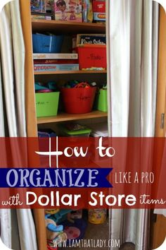 Want to learn how to organize like a pro without spending  a lot of money? Here are my favorite dollar store items to organize with! by francis