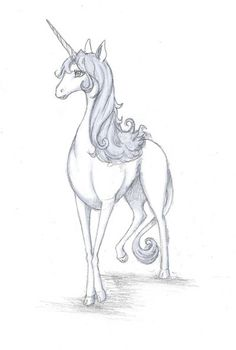 Last Unicorn Drawing Animals, Animal Drawings, Fantasy Creatures, Mythical Creatures, The Last Unicorn, Legendary Creature, Unicorn Art, Dragon Art, Dark Horse
