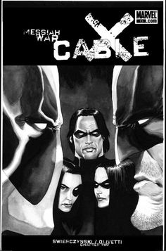 Cable #13 - Wolverine vs. Deadpool, Thunderbird and Domino by Kaare Andrews *