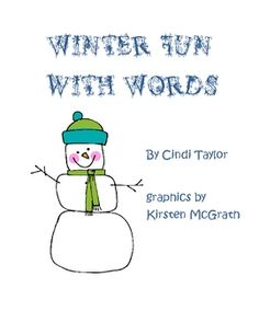 Activities bound to get any first or second grader excited about winter language. Activities include two sets of flashcards, word building game, ma...