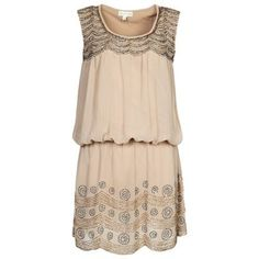Pretty...Gatsby inspired dress, with neutral, gold or silver shoes..nice and forgiving in right places!