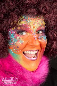 Famous Last Words Mardi Gras, Body Art, Make Up, Celebrities, Painting, Full Face, Carnival, Creative Makeup, Creativity