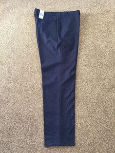 "M&S Collection LUXURY Tailored Fit mens trousers W40"" InsL31"" BNWT RRP£84 Navy  