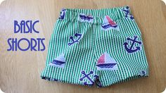 basic shorts tutorial for baby