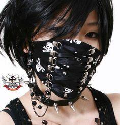 so nice visual kei Punk Fashion, Lolita Fashion, Gothic Fashion, Mouth Mask Fashion, Fashion Face Mask, Gothic Dolls, Gothic Lolita, Visual Kei, Harajuku
