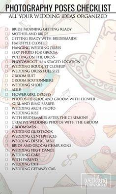 Wedding Photography Checklist || Bella Collina Weddings