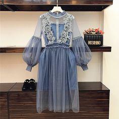 Blue Fashion, Look Fashion, Daily Fashion, Korean Fashion, Womens Fashion, Fashion Ideas, Classy Outfits, Pretty Outfits, Dress Skirt