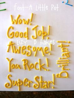Tips for piping words on cookies.