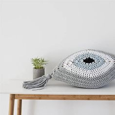 This eye-catching pillow will bring the Greek Islands to Your home. Your friends will all want one! * The evil eye as they call it in here in Greece, protects you against jealousy and bad intentions of other people. * Hand-crocheted with cotton ecologic yarn. * It measures 51 cm (20