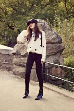 tomboy chic with this lovely @360SWEATER