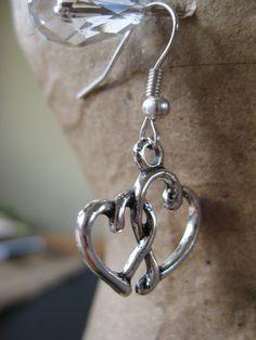 Double Heart Earrings by GoldCatJewelry on Etsy, $3.00