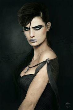 Client's Work by EVentrue on DeviantArt Character Portraits, Character Art, Character Concept, Cyberpunk, Vampires, She's A Witch, Witch Queen, Avatar, Vampire Masquerade