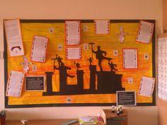 A Victorian classroom display.