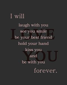 I swear I will... You are more than I could have ever dreamed of and so much…
