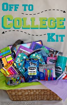 """Going away to college can be a hard and stressful time for both parents and students. Moving away from home, spending money on furnishing dorms and buying school supplies can get emotional and daunting. Make the transition to college more fun and exciting with a special """"Off to College Kit"""" for your new college student. I received compensation for this … Continue reading →"""