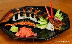 6) Dragon Sushi Roll