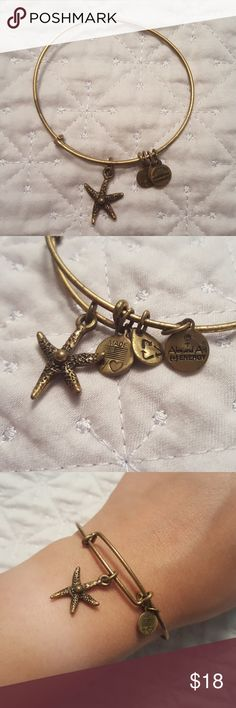 ALEX AND ANI STARFISH BRACELET Specific style not sold anymore, barely worn. Will offer further discount if you bundle more than one Alex and Ani bracelet Alex & Ani Jewelry Bracelets