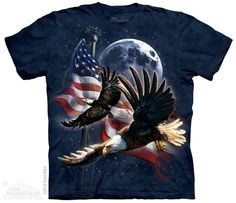 PATRIOT EAGLE MOON T-SHIRT BY THE MOUNTAIN®