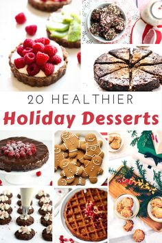 20 Healthier Holiday Desserts (OMG! Paleo Peppermint Bark and Skinny Oreo Cheesecake!)