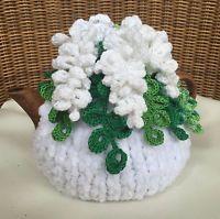 NEW Handmade Tea Cozy White Acacia From Ukrainian Designer