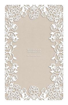 Art Nouveu Roses Papercut Ketubah by Naomi Shiek and sold by Urban Collective #papercut #ketubah