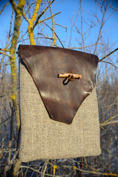 Handmade   lether wool padded tablet bag ipad bag. by defany, $49.00