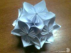 Кусудама (цветочный шар) из бумаги фото