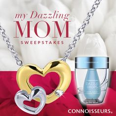 My Dazzling Mom Sweepstakes - Connoisseurs and Firth Jewelers - Dazzle Drops Silver Jewelry Cleaner - Learn how to enter at www.Facebook.com/ConnoisseursUSA
