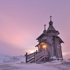 Trinity Church is a small Russian Orthodox church on King George Island near Russian Bellingshausen Station in Antarctica. It is the southernmost Eastern Orthodox church in the world and also is the evidence of great human architecture at the south pole.