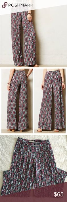 """❗️CLOSET CLOSING❗️Anthropologie """"Elevenses"""" Pants In great condition!  No noticeable flaws.  Cotton, viscose, and spandex So soft!  Feature side pockets and two buttons where you can adjust based on waist size  Approx Measurements: 31 inch waist and 31 inch inseam ✈️ CLOSET CLOSING SOON, priced to sell! Don't miss put on your favorite items✈️ Anthropologie Pants Wide Leg"""
