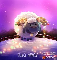 Daily Paint 1485. Fleece Navidad by Cryptid-Creations.deviantart.com on @DeviantArt