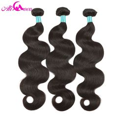 Ali Coco Hair Brazilian Body Wave Hair Extensions 1 Piece 10-28 inch 100% Remy Human Hair Bundles Natural Color Free Shipping