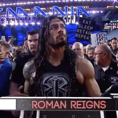 in the main event of Wrestlemania 31, Roman Regins, Braun Strowman, Shawn Michaels, Kevin Owens, Finn Balor, Cm Punk, Thing 1, Hulk Hogan