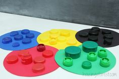 Olympic Ring Bottle Cap Color Sort
