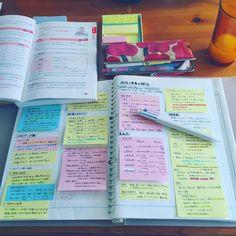 """703 Likes, 17 Comments - @___miiiiiiiko___ on Instagram: """"...☁ ︎ 湿度が高くてなかなかやる気がでないので、カフェに行こうかと思ったけど化粧したり準備するのもやる気が出ず… #大人の勉強垢 #社会人の勉強垢 #食生活アドバイザー #付箋ノート"""""""