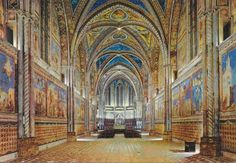 Giotto's murals at the Basilica di San Francesco in Assisi, Italy.