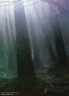 Misty Forest, Raphael Lübke on ArtStation at http://www.artstation.com/artwork/misty-forest