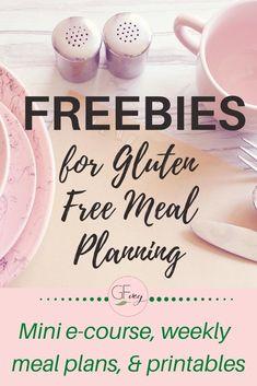 Gluten Free Meal Plan, Gluten Free Vegetarian Recipes, Vegan Gluten Free, Gourmet Recipes, Easy Meal Plans, Free Meal Plans, Nutrition Tips, Health And Nutrition, Health Tips