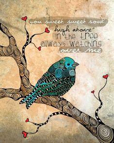 tangle blue bird ~ @ The fever List