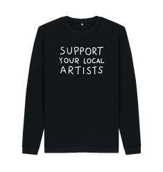 World 7, Local Artists, Organic Cotton, Graphic Sweatshirt, Sweatshirts, Trainers, Sweatshirt, Sweater, Hoodie